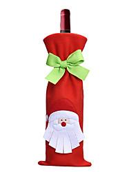 decoración de navidad bolsa de santa claus ropa de botellas de vino botella