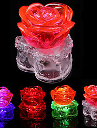 6.2*6.7CM Christmas Crystal Rose Led Battery Small Night Light  LED Lamp 1PC