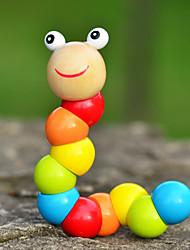projetos novos de madeira brinquedos lagarta crianças torção brinquedos da cor (1 pc)