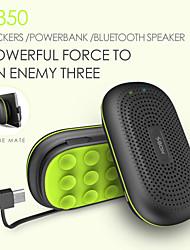 Power speaker Mini Portable 3000mAh powerbank Wireless Bluetooth Speaker Power Bank With MIC Sucking Disc Bracket