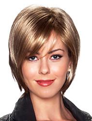 Cherish Bob Style Virgin Remy Human Hair Hand Tied Top Capless Female Short Straight Wigs