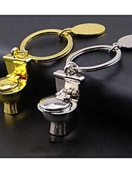 Funny creative simulation mini toilet Keychain