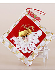 "2PCS/SET 13*13CM/5*5"" Christmas Tree Hanging Gift Bag Santa Claus Snowman Tiny Throw Pillow Ornaments Xmas Decoration"