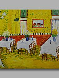 pronto para pendurar esticada pintura a óleo pintados à mão lona van Gogh interior repro de um painel restaurante