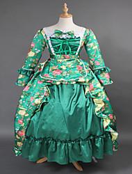 vestido de noche wholesalelolita vestido inspirado venta steampunk®top brocado verde impresión lolita largo vestido de fiesta de María Antonieta