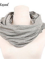 D Exceed Women Polyester Ring Scarves NEW Fashion Imitation Cashmere Shawl Wrap Infinity Scarf Pure Color Free Shipping