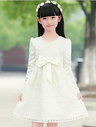 Kid's Dress , Cotton / Lace Casual / Cute / Party NewyearKids