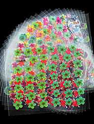 24 Pcs/Lot Colorful Glitter Flowers Beauty Design Diy 3D Nail Stikcers Manicure Decorations For Charms Nail Art