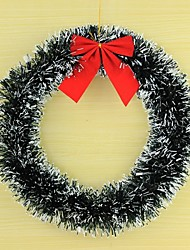 Christmas decorations Window dressing dress circle wreath snowflakes wreath of wool top Christmas tree ornaments