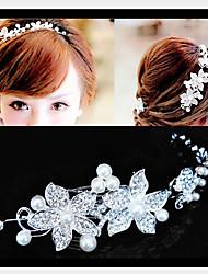 Для женщин Для женщин Серебряное покрытие / Сплав / Цирконий / Искусственный жемчуг Спица для волос , Другое ,Очаровательный / Для