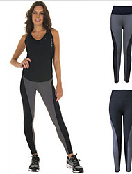 Yoga Pants Thermal / Warm / Compression / Stretch High Elasticity Sports Wear Gray / Black Women's Others Yoga