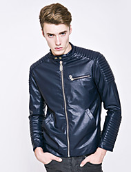 Men's European And American Style Fashion Special Process Motorcycle Leather Jacket