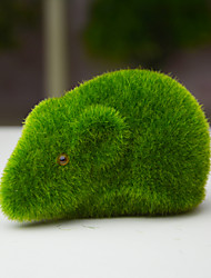 Green Plants Mouse Mossy Stone Plants Artificial Flowers