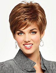 Admirable Hand Tied -Top Human Virgin Remy  Short Straight Capless Hair Wigs