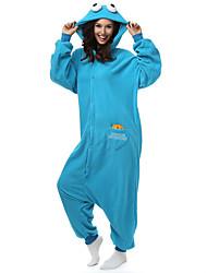 Kigurumi Pajamas Sesame Street / Monster Leotard/Onesie Halloween Animal Sleepwear White Solid Polar Fleece Kigurumi Unisex Halloween