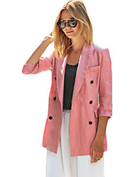 Blazer Aux femmes Long Manches ¾ Sexy Polyester