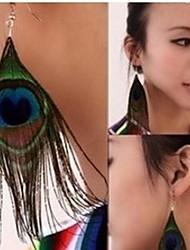 Silver Gold Wholesale Women Simple Peacock Multicolor Flower Drop Earring