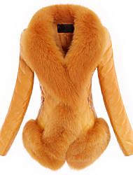 Yana Woman'S Phi Sheep Leather Jacket Fox Fur Real Slim Short Coat Plus Size