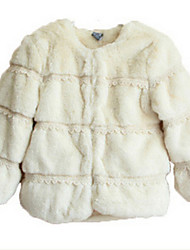 Girl's White Down & Cotton Padded , Check Polyester Winter / Spring / Fall