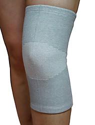 Kniebandage Sport unterstützen Thermal / Warm Fitness Grau