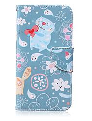Katze-Muster PU-Leder Material Flip-Karte für Samsung Galaxy Note 5/4/3