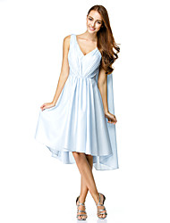 TS Couture® Cocktail Party Dress A-line V-neck Knee-length Chiffon with Side Draping
