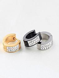 Diamond Titanium Steel Earring Stud Earrings Wedding / Party / Daily / Casual 1pc
