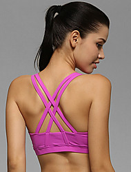 Yoga Tops/Bra Breathable/Stretch/Sweat-wicking/Removable Cups/Soft Stretchy Sports Wear Yoga/Pilates/Fitness