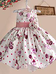 Girls Party Flower Print Tutu  Birthday Christmas Princess Kids Clothing Dresses