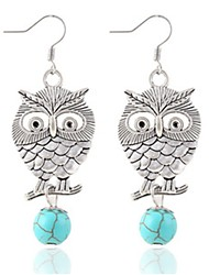 Earring Animal Shape / Owl Drop Earrings Jewelry Turquoise