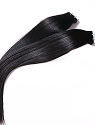 "Peruvian PU Tape Hair Natural Color 7A Grade Human Hair Extension Unprocessed Peruvian Silky Straight Hair 18"" to 26"""