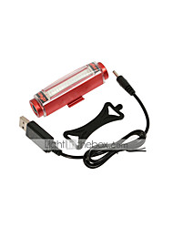 Waterproof Bike Rear Light 3 Mode 3000 Lumens USB Charging Red Bicycle Taillights Warning Light