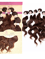 "EVET Brazilian Virgin Hair 6 Bundles 2x12"",2x14"",2x16"" Brazilian Human Hair 6A Virgin Hair Body Wave #1B #2 #4"