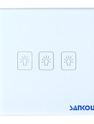 a8-03 2way écran tactile en verre de cristal de commutateur