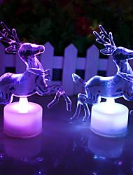 LED 7 Farben, die Acryl Weihnachten Hirsch-Nachtlicht-Lampe Hauptdekorgeschenk