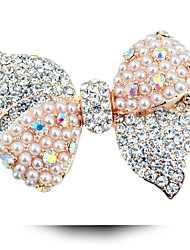 Korean Version Of The New Women's Clothing Bow Pearl Brooch