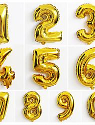 10pcs di grandi dimensioni Numero oro 0-9 palloncini capodanno decorazione wedding festa di Natale palloncino