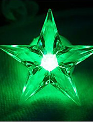 3.7CM Christmas Colorful Decorative Small Night Light/Can Paste Five-Pointed Star A Night Light  LED Lamp 1PC