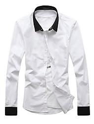 Chemises informelles ( Coton mélangé ) Informel Carré à Manches longues pour Homme