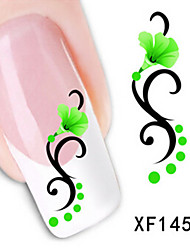 1 PCS 3D Water Transfer Printing Nail Stickers XF1454-XF1458
