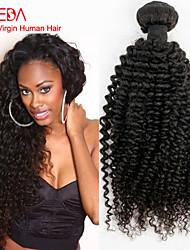 Super offerte 1pc / lot dei capelli vergini brasiliani crespo nero riccio può tingersi non trasformati brasiliano capelli afro ricciolo