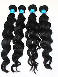 "3pcs/lot 12""-30"" 1B Black Top Quality Virgin Peruvian Deep Wave Remy Human Hair Extensions Weave 100g/bundle"