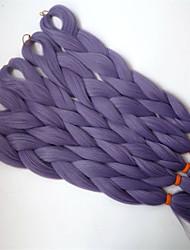"24"" 80G VINTAGE LILAC Color Kanekalon Senegalese Twists Xpression Synthetic Jumbo Box Braiding Hair"