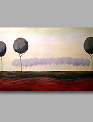 Ready to Hang Stretched Hand-Painted Oil Painting Canvas Wall Art Trees Lanscape Abstract Modern One Panel