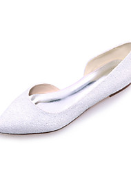 Women's Spring / Summer / Fall Pointed Toe Glitter Wedding / Party & Evening Flat Heel Black / Ivory / White