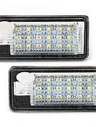2 blanco 18 SMD llevó luces de la matrícula lámparas bombillas para audi a3 a4 a6 8e rs4 q7