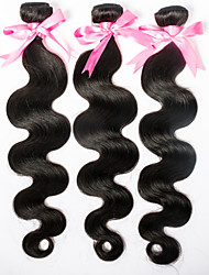 "3pcs/lot Malaysian Body Wave Hair Bundles Weaves 8""-30"" Malaysian Body Wave Hair Wefts Natural Color"