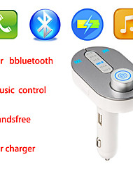 New MusicROAD Wireless In-Car Bluetooth FM Transmitter, Music Control, and Hands-Free Call for Smartphones iPhone