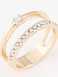 Fashion Sweet Shiny Rhinestone Simple Ring
