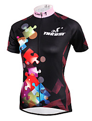 ILPALADINO Cycling Jersey Women's Short Sleeve Bike Jersey TopsQuick Dry Ultraviolet Resistant Breathable Compression Lightweight